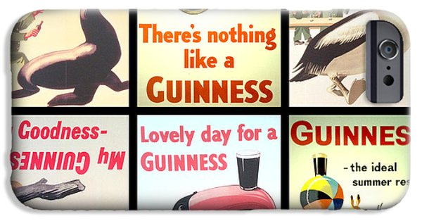Food And Beverage Digital iPhone Cases - Vintage Guinness  iPhone Case by Nomad Art And  Design