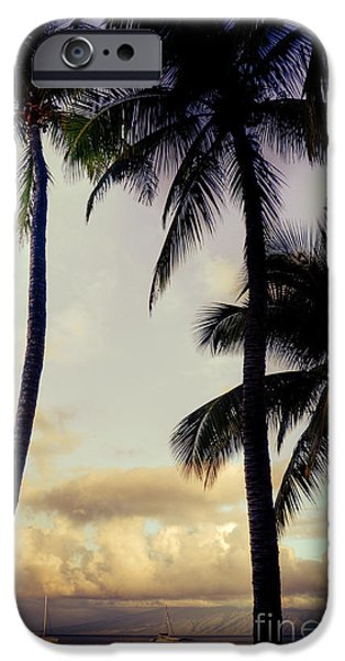 Sailboat Ocean iPhone Cases - Vintage Hawaii iPhone Case by Kelly Wade