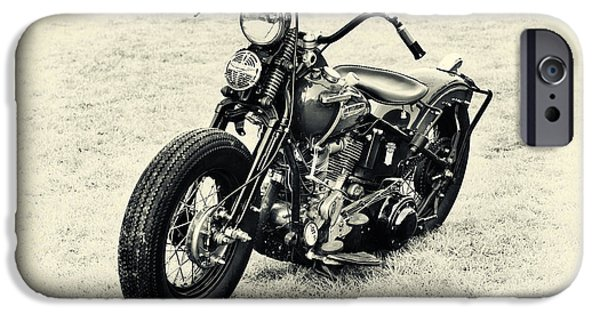 1940s iPhone Cases - Vintage HD Panhead iPhone Case by Tim Gainey