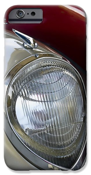 Cars iPhone Cases - Vintage Headlamp iPhone Case by Carol Leigh