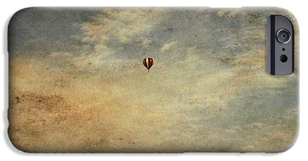 Free Mixed Media iPhone Cases - Vintage Hot Air Balloons iPhone Case by Dan Sproul