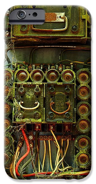 Electrical iPhone Cases - Vintage Household Fuse Box iPhone Case by Michael Eingle