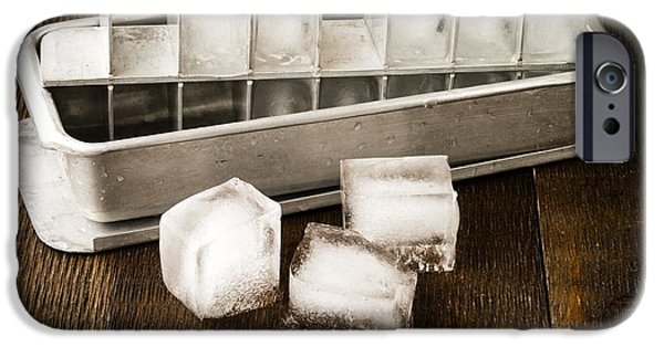 Vintage iPhone Cases - Vintage Ice Cubes iPhone Case by Edward Fielding