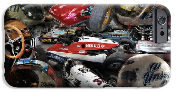 Indy Car iPhone Cases - Vintage Indy iPhone Case by Tom Griffithe