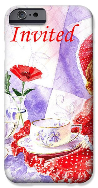 Vintage Invitation iPhone Case by Irina Sztukowski