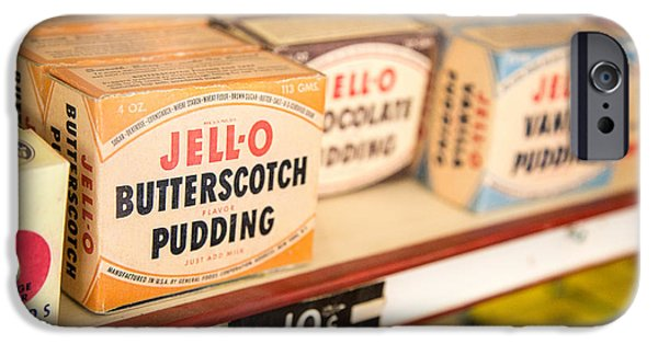 Memories iPhone Cases - Vintage Jell-O Butterscotch Pudding iPhone Case by Edward Fielding