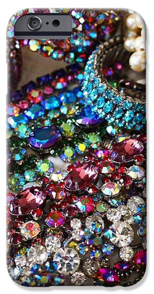 Vintage Jewelry iPhone Cases - Vintage Jewelry iPhone Case by Peggy Davis
