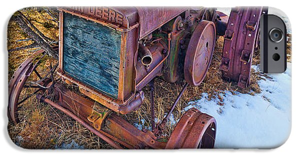 Machinery iPhone Cases - Vintage John Deere iPhone Case by Inge Johnsson