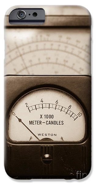 Electrical iPhone Cases - Vintage Light Meter iPhone Case by Edward Fielding
