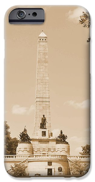 President iPhone Cases - Vintage Lincolns Tomb iPhone Case by Luther   Fine Art