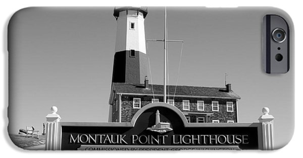 President iPhone Cases - Vintage Looking Montauk Lighthouse iPhone Case by John Telfer