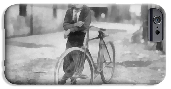 Messenger iPhone Cases - Vintage Messenger Boy iPhone Case by Dan Sproul