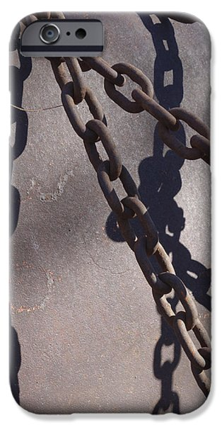 Vintage Metal Chains iPhone Case by Ann Powell