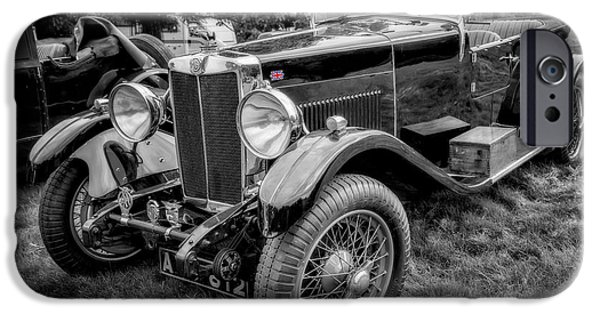 Union Digital Art iPhone Cases - Vintage MG iPhone Case by Adrian Evans