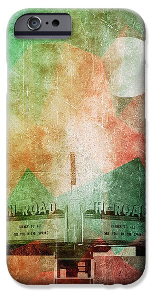 1950s Movies iPhone Cases - Vintage Moon iPhone Case by David Kuhn