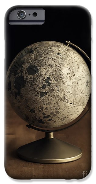 Learn iPhone Cases - Vintage Moon Globe iPhone Case by Edward Fielding