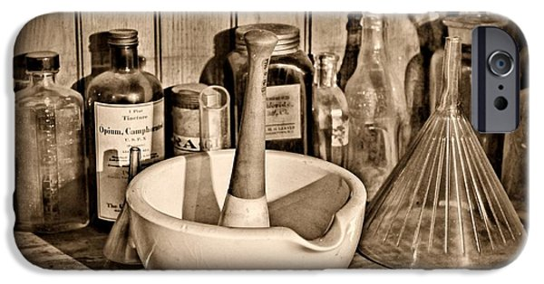 Old Grinders iPhone Cases - Vintage Mortar and Pestle iPhone Case by Paul Ward