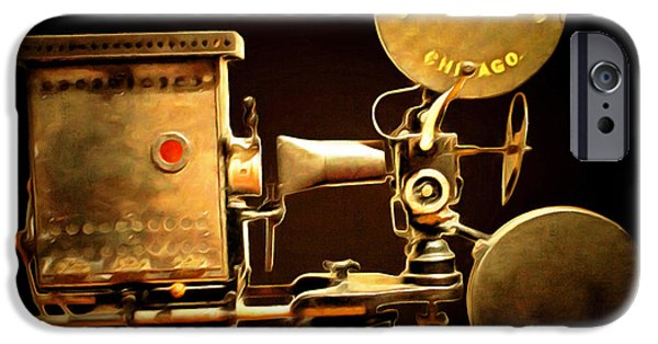 Lumiere iPhone Cases - Vintage Motion Picture Camera 7D13221 20150220 iPhone Case by Wingsdomain Art and Photography