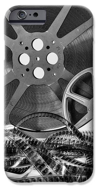 Big Screen iPhone Cases - Vintage Movie Reels iPhone Case by Paul Ward