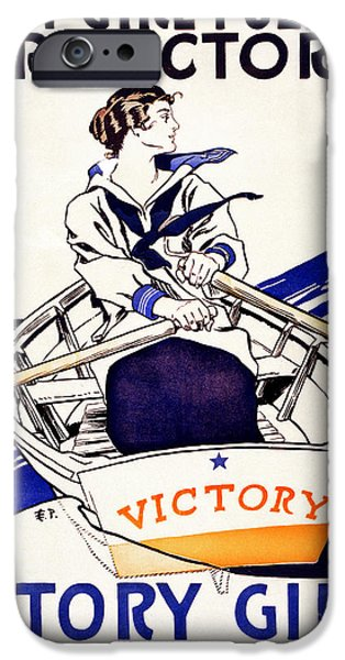 Campaign iPhone Cases - Vintage Navy Poster iPhone Case by Jon Neidert