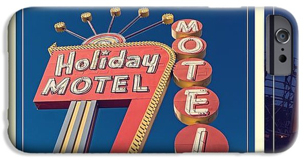Trio Photographs iPhone Cases - Vintage Neon Signs Trio iPhone Case by Edward Fielding