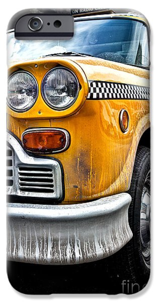 Vintage NYC Taxi iPhone Case by John Farnan