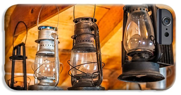Inexpensive iPhone Cases - Vintage Oil Lanterns iPhone Case by Paul Freidlund