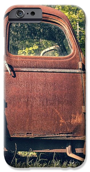 Old Truck iPhone Cases - Vintage Old Rusty Truck iPhone Case by Edward Fielding
