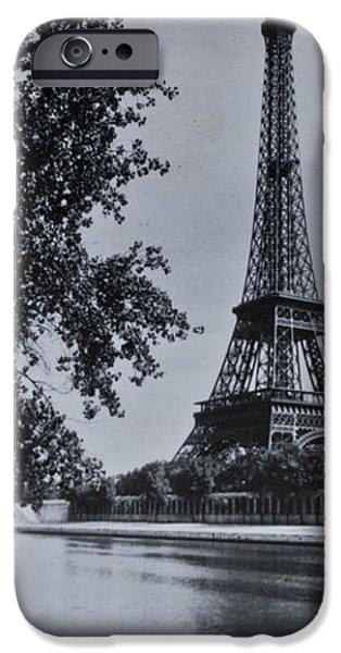 Vintage Paris iPhone Case by Nomad Art And  Design