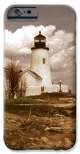 VINTAGE PEMAQUID POINT LIGHTHOSE iPhone Case by Skip Willits