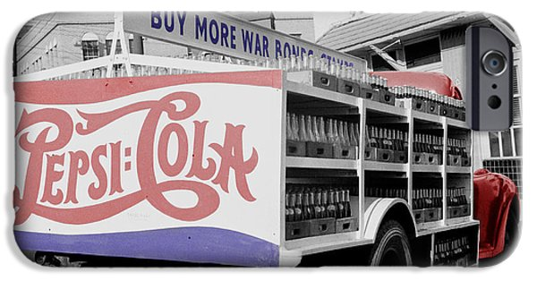 Delivery Truck iPhone Cases - Vintage Pepsi Truck iPhone Case by Andrew Fare