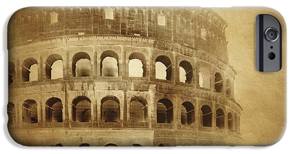 Best Sellers -  - Built Structure iPhone Cases - Vintage Photo Of Coliseum In Rome iPhone Case by Evgeny Kuklev