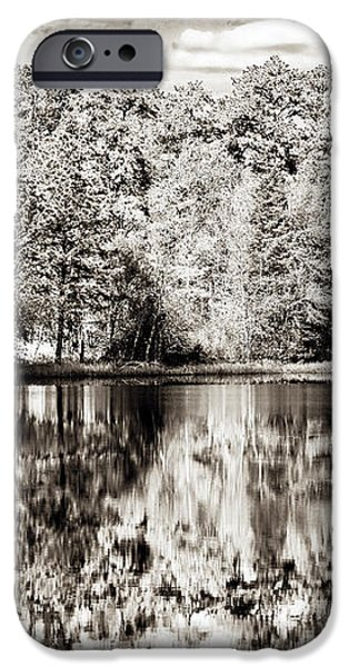 Vintage Pine Barrens iPhone Case by John Rizzuto
