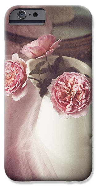 Table Top iPhone Cases - Vintage Pink iPhone Case by Amy Weiss