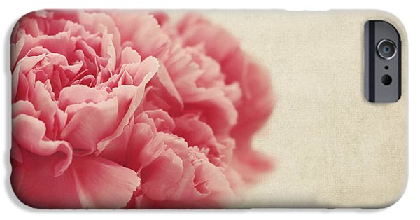 Recently Sold -  - Texture iPhone Cases - Vintage Pink Carnations iPhone Case by Kim Hojnacki