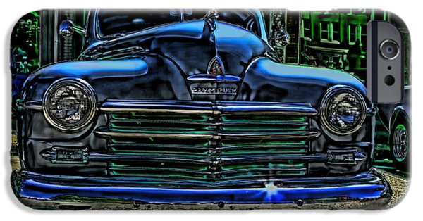 Plymouth iPhone Cases - Vintage PLYMOUTH Art Indigo Dreams iPhone Case by Lesa Fine