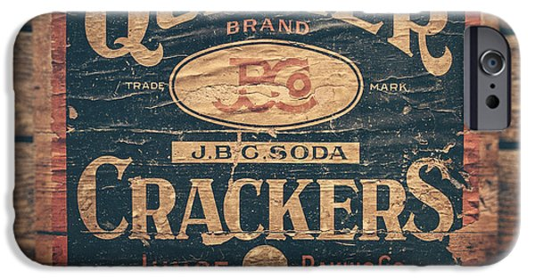 Quaker iPhone Cases - Vintage Quaker Crackers for the Kitchen iPhone Case by Lisa Russo
