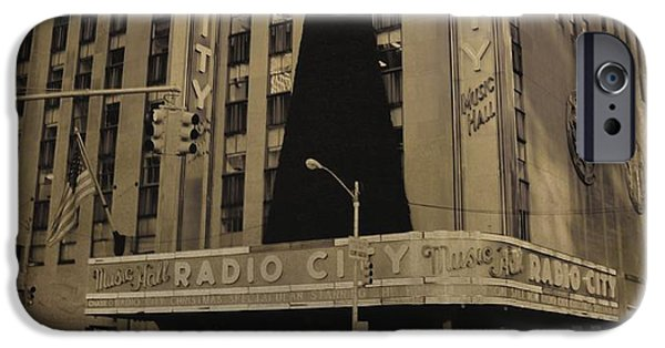 Christmas Eve iPhone Cases - Vintage Radio City Music Hall iPhone Case by Dan Sproul