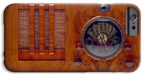 Appliance iPhone Cases - Vintage Radio iPhone Case by Olivier Le Queinec