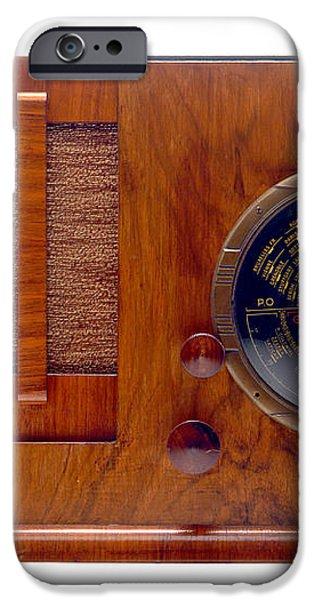 Vintage Radio iPhone Case by Olivier Le Queinec