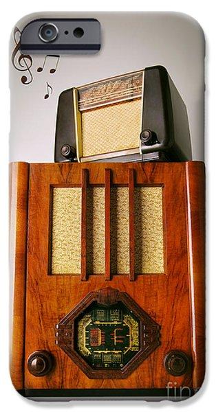 Vintage Radios iPhone Case by Carlos Caetano