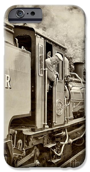 Antiques iPhone Cases - Vintage Railway iPhone Case by Jane Rix
