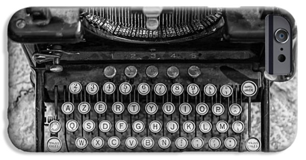 Typewriter Keys Photographs iPhone Cases - Vintage Remington Typewriter iPhone Case by Nomad Art And  Design