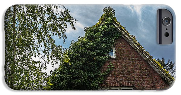 White House iPhone Cases - Vintage residential house with clinker facade covered with green creeper  iPhone Case by Hannelore Baron