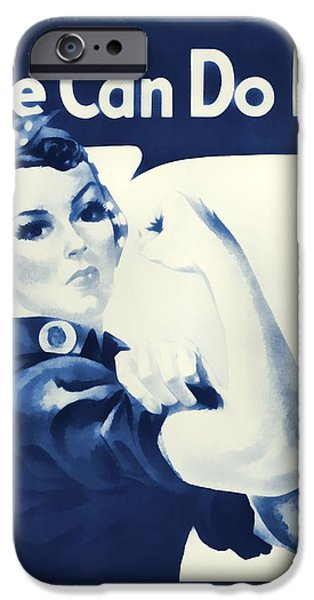 Revolution Mixed Media iPhone Cases - Vintage Rosie The Riveter iPhone Case by Dan Sproul
