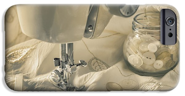 Sewing iPhone Cases - Vintage Sewing Machine iPhone Case by Amanda And Christopher Elwell