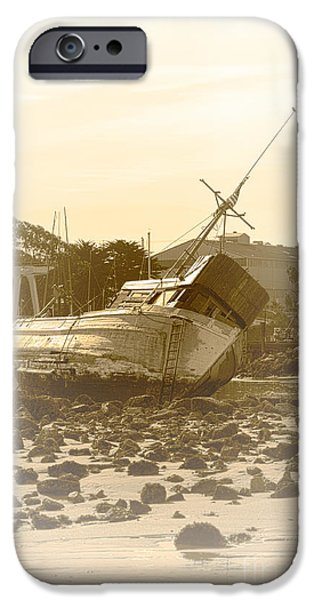 Vintage Shipwreck  iPhone Case by Artist and Photographer Laura Wrede
