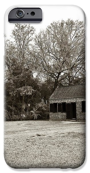 Vintage Slave Quarters iPhone Case by John Rizzuto