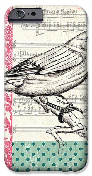 Vintage Songbird 1 iPhone Case by Debbie DeWitt
