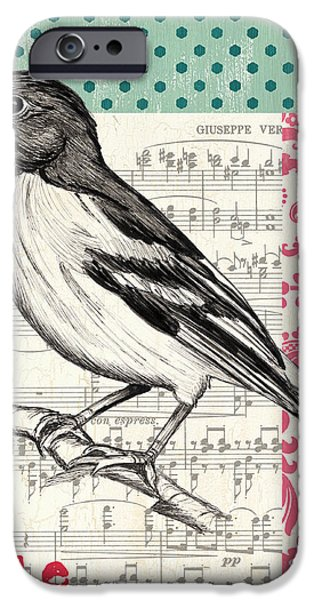 Vintage Songbird 2 iPhone Case by Debbie DeWitt